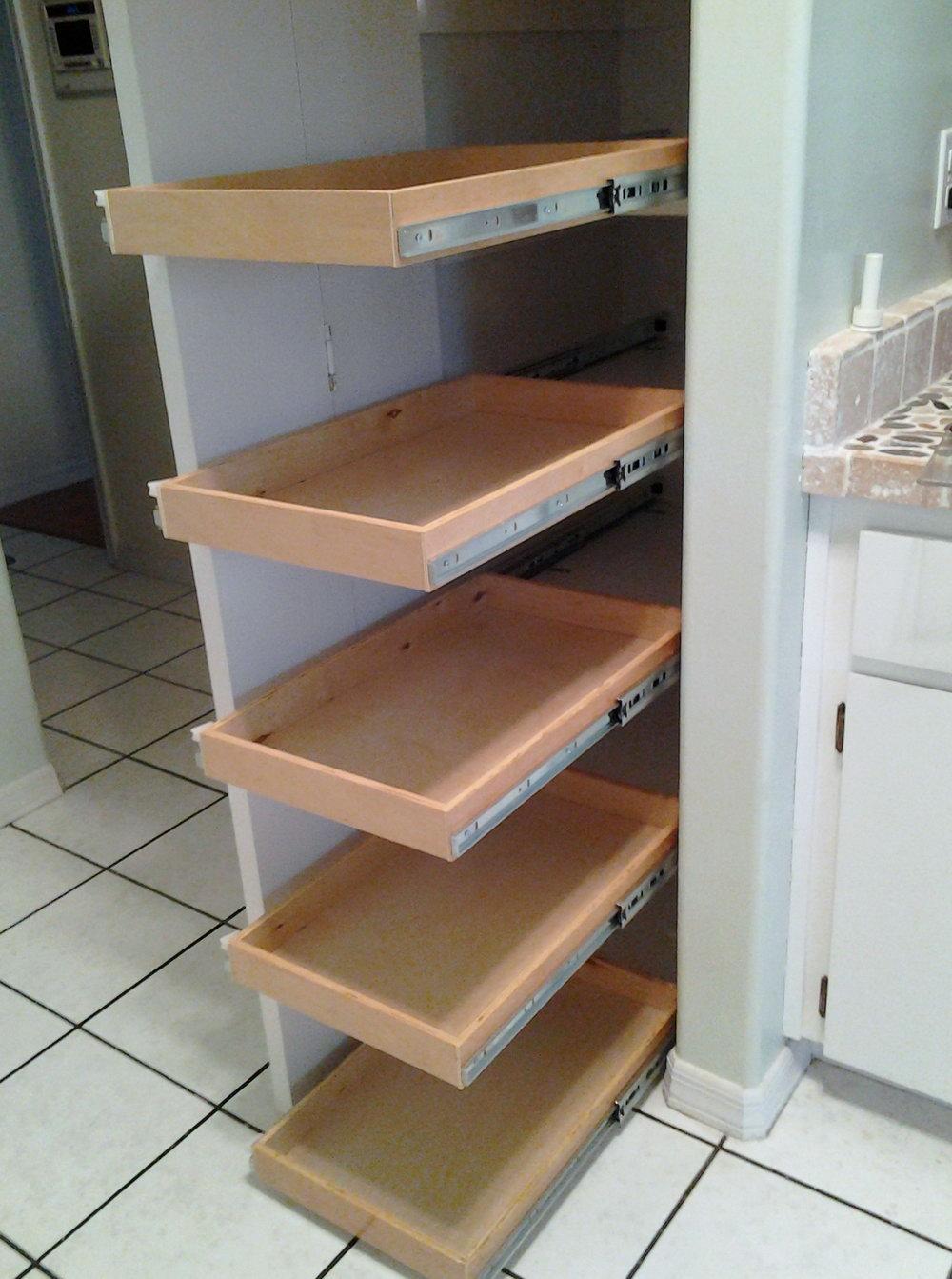 Narrow Kitchen Cabinet Storage