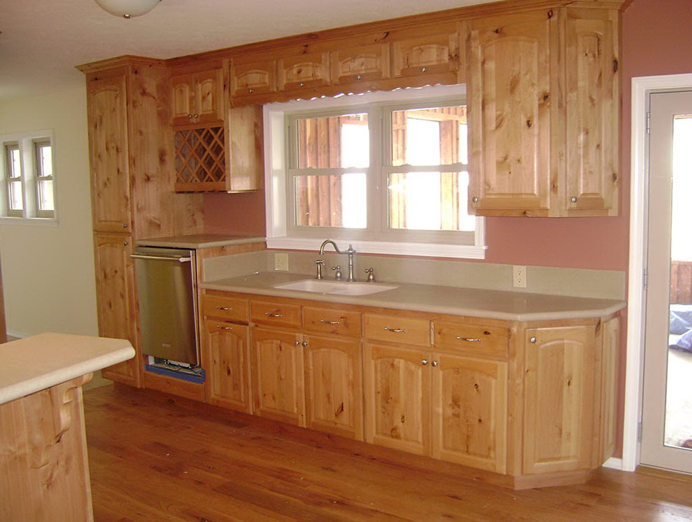 Natural Knotty Alder Kitchen Cabinets