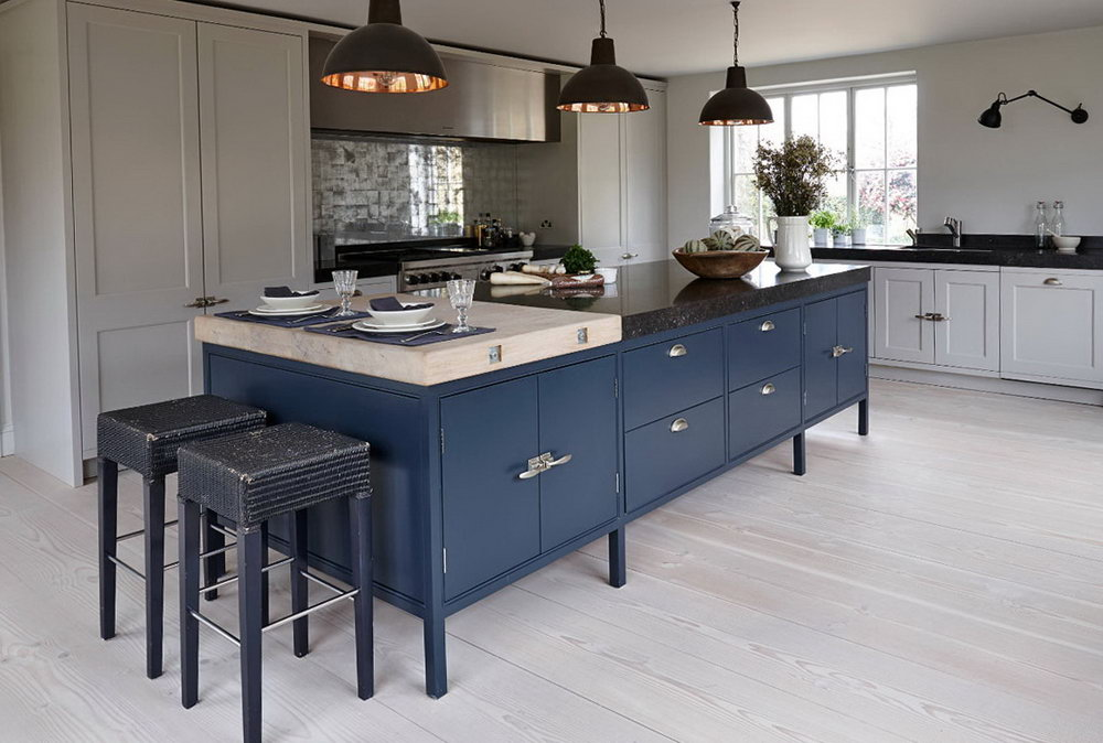 Navy Blue And White Kitchen Cabinets