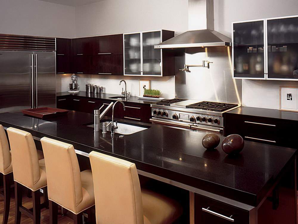 Neutral Kitchen Colors With Dark Cabinets