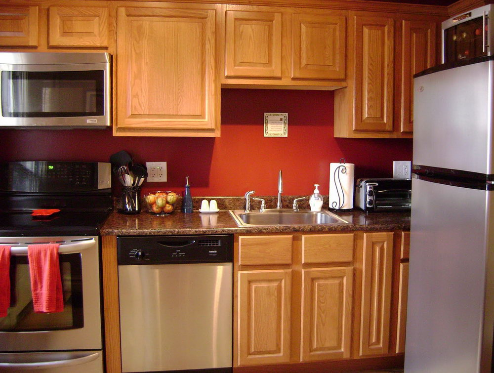 Oak Cabinets Kitchen Wall Color