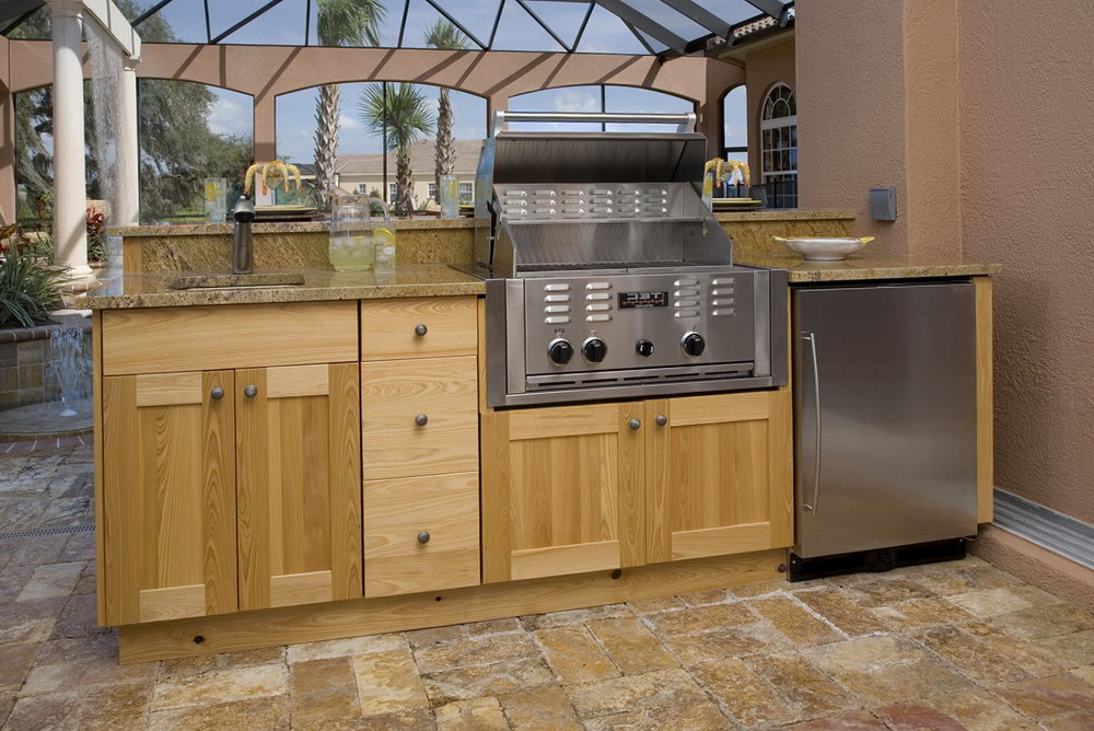 Outdoor Kitchen Cabinets Wood