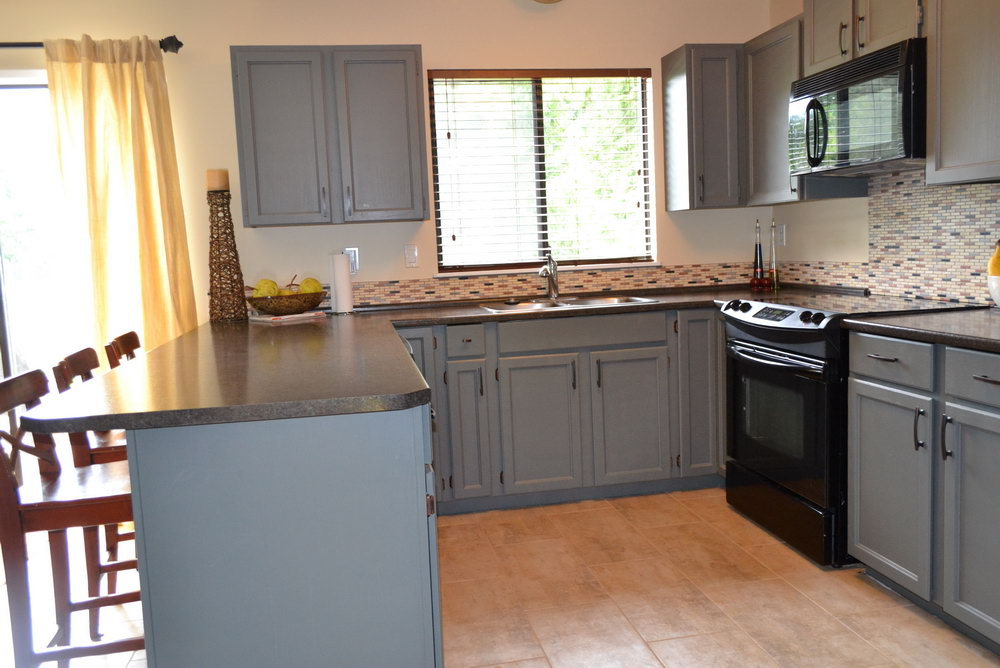 Painting Oak Kitchen Cabinets Gray