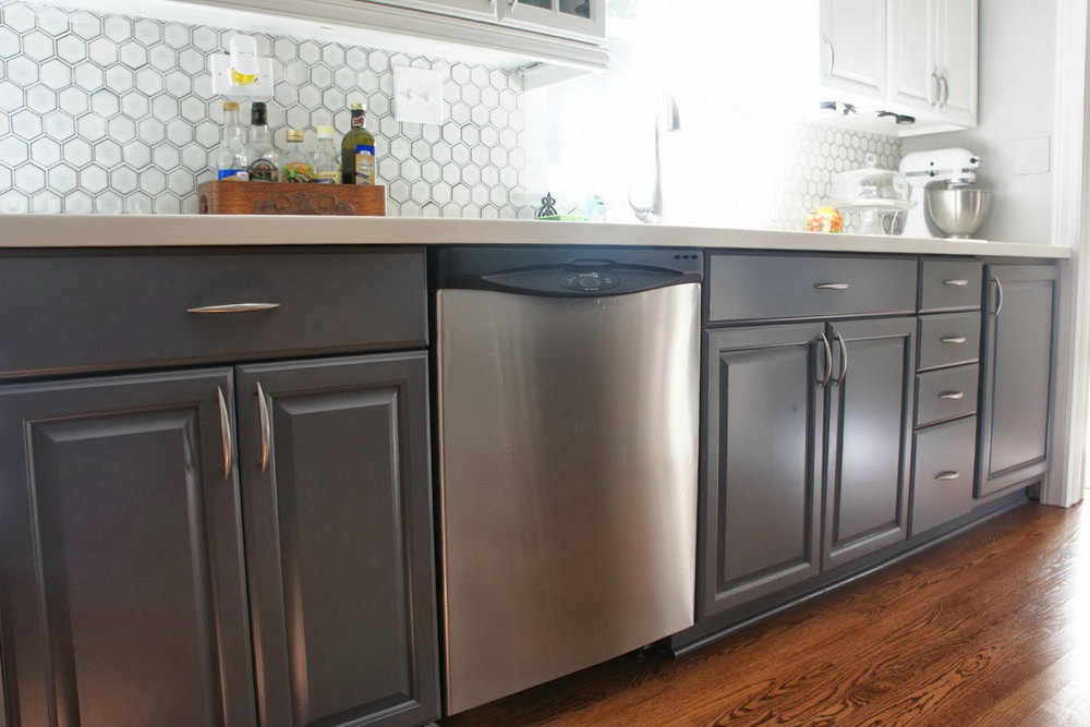 Pictures Of Gray Painted Kitchen Cabinets