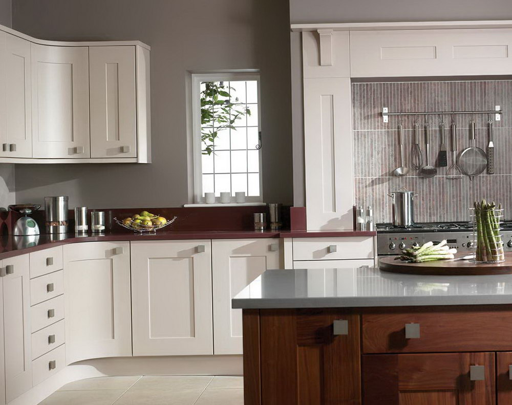 Pictures Of Kitchens With White Cabinets And Grey Walls