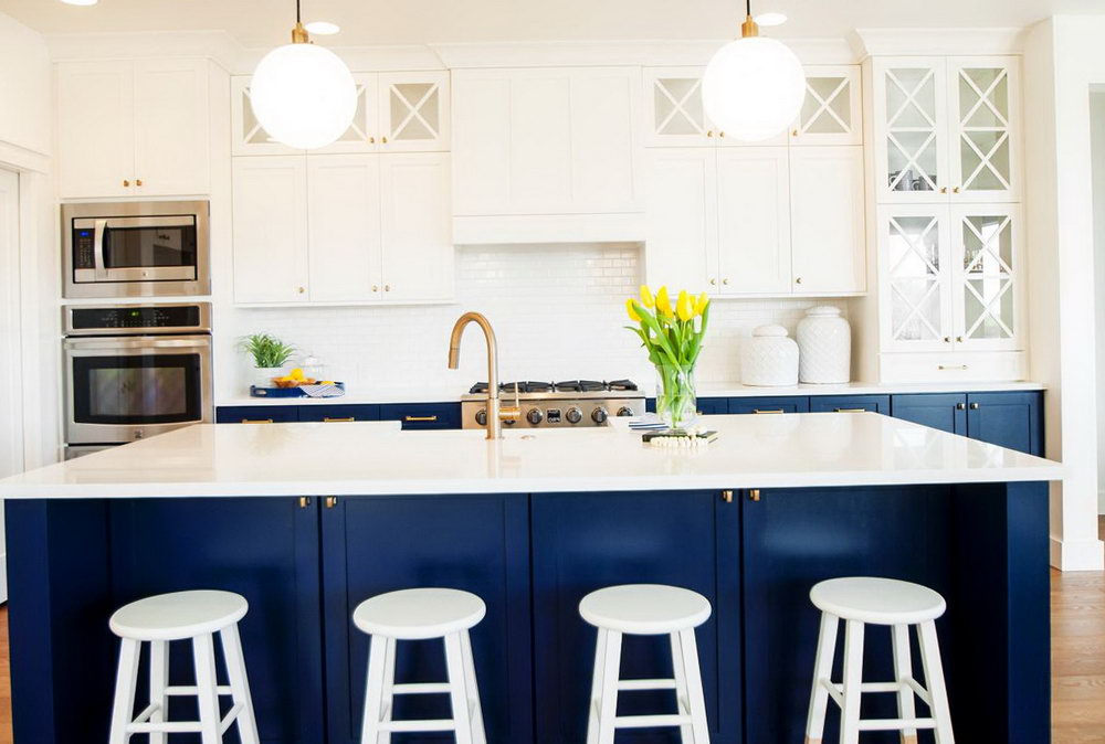 Pictures Of Navy Blue Kitchen Cabinets