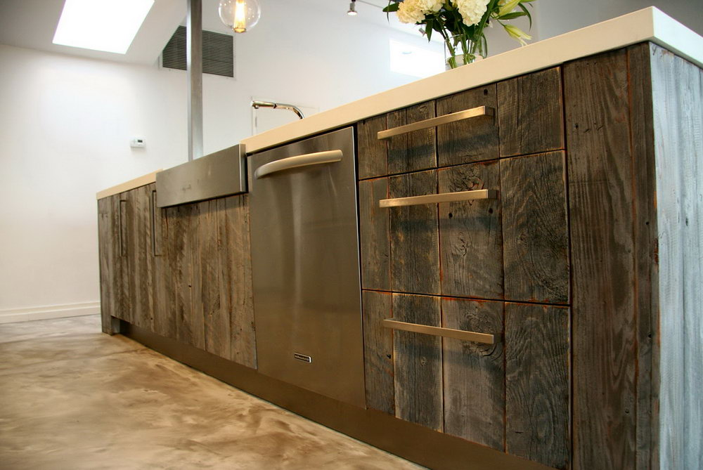 Reclaimed Wood Kitchen Cabinets For Sale