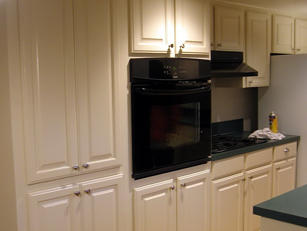 Refinished Kitchen Cabinets Before And After