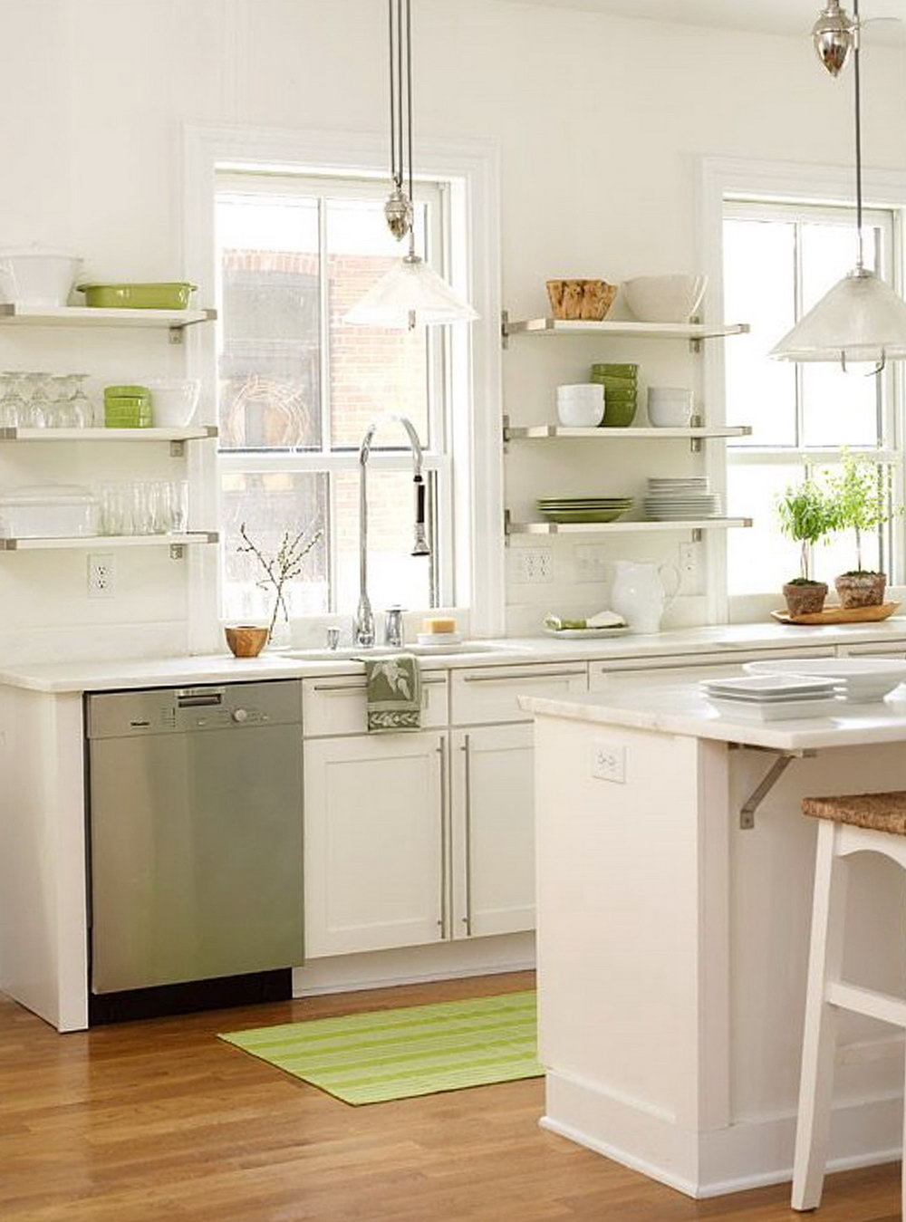 Replace Kitchen Cabinets With Shelves