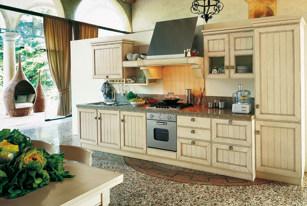 Retro Painted Kitchen Cabinets