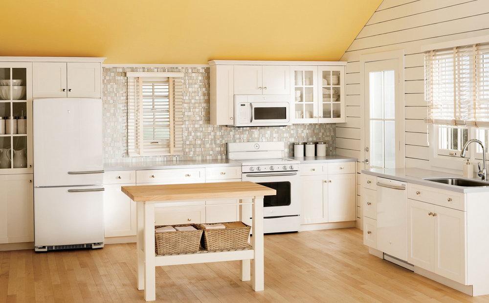 Retro White Kitchen Cabinets