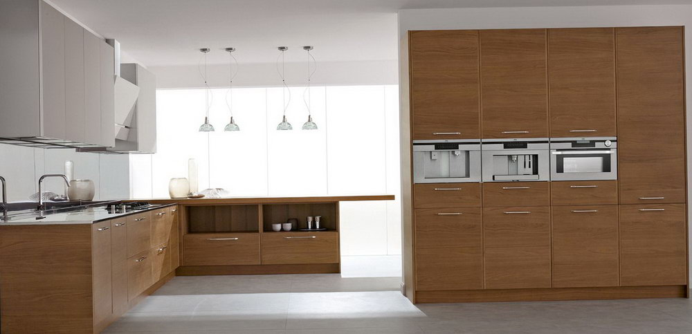 Simple Wooden Kitchen Cabinets