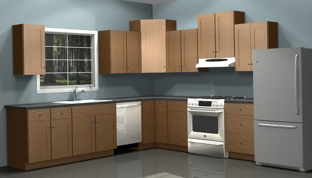 Single Wall Kitchen Cabinets