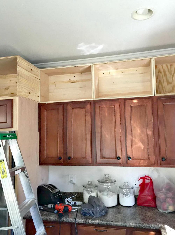 Space Above Kitchen Cabinets Storage