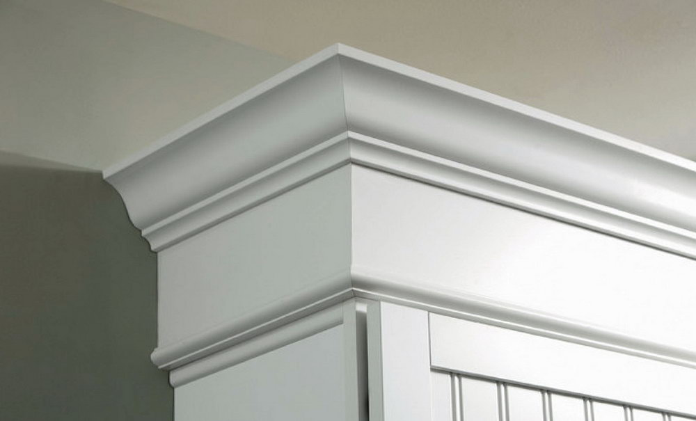 Stacked Crown Molding Kitchen Cabinets