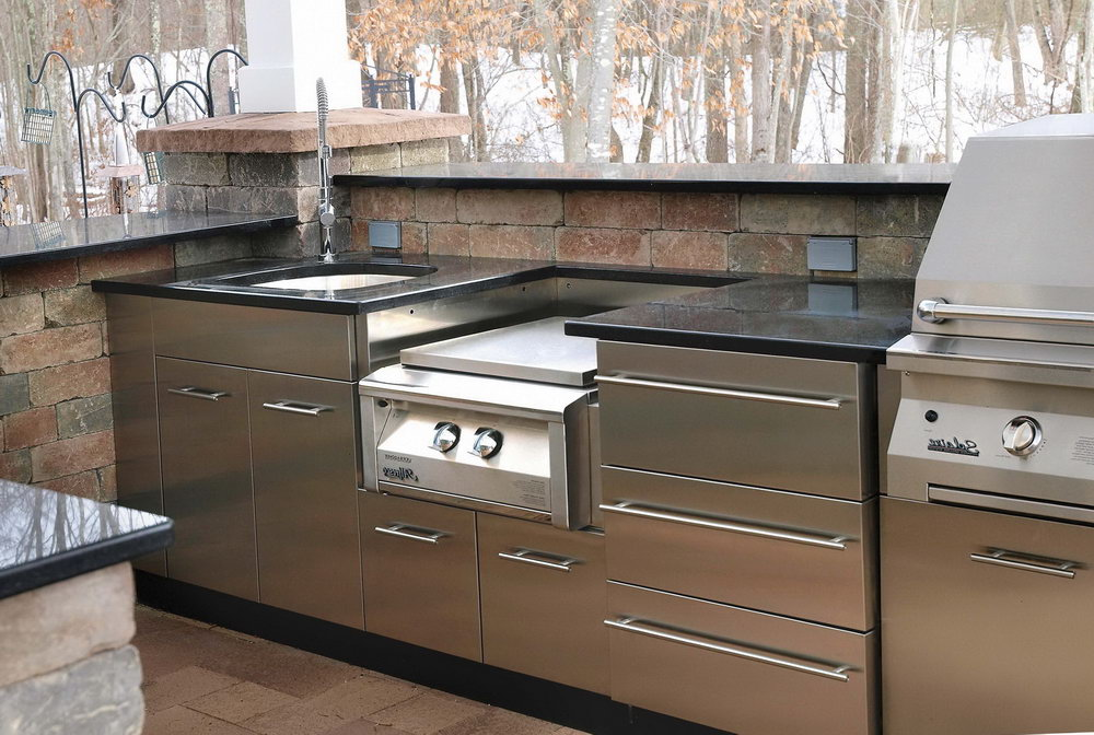 Stainless Steel Kitchen Cabinets With Glass Doors