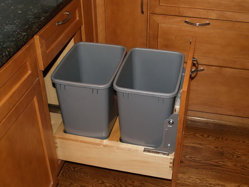 Trash Can Under Kitchen Cabinet