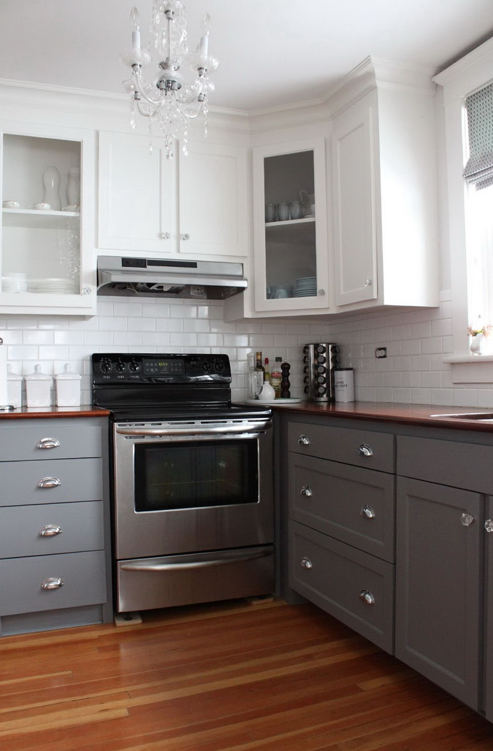 Two Color Kitchen Cabinets Design