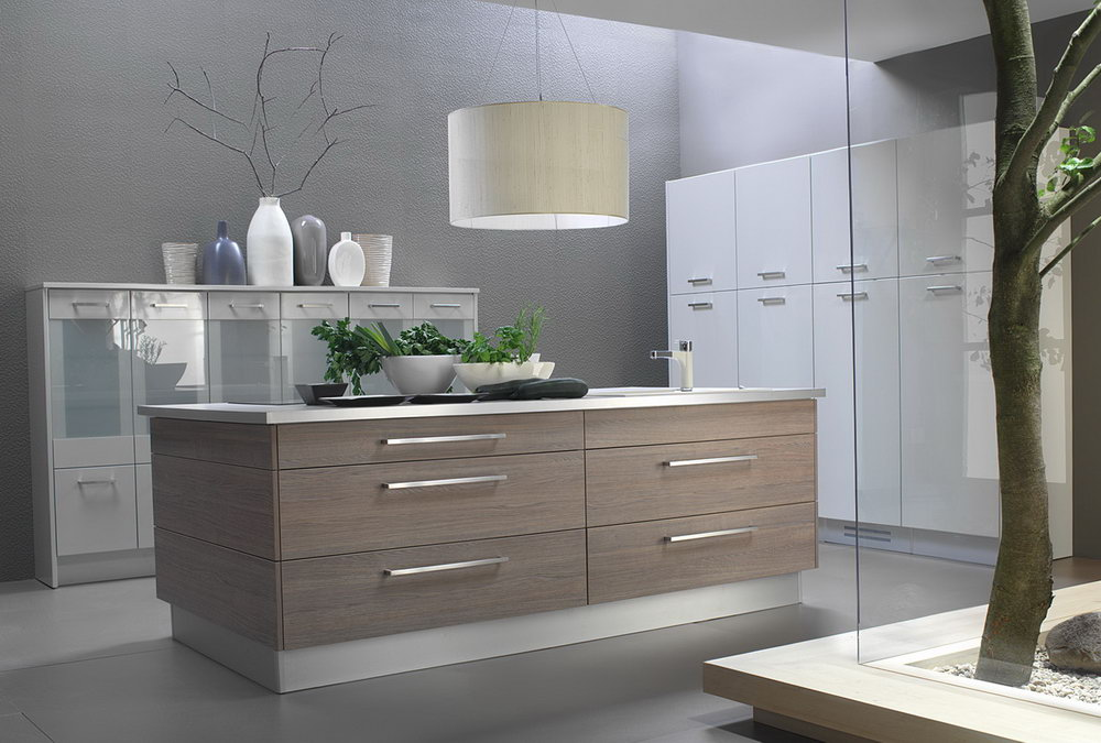 White Formica Kitchen Cabinets