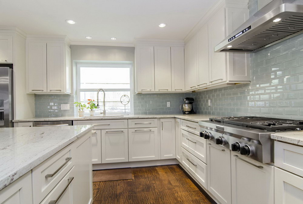 White Kitchen Cabinets Ideas For Countertops And Backsplash