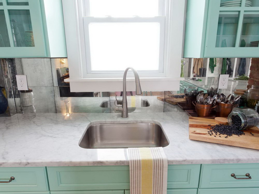 White Kitchen Cabinets Teal Walls