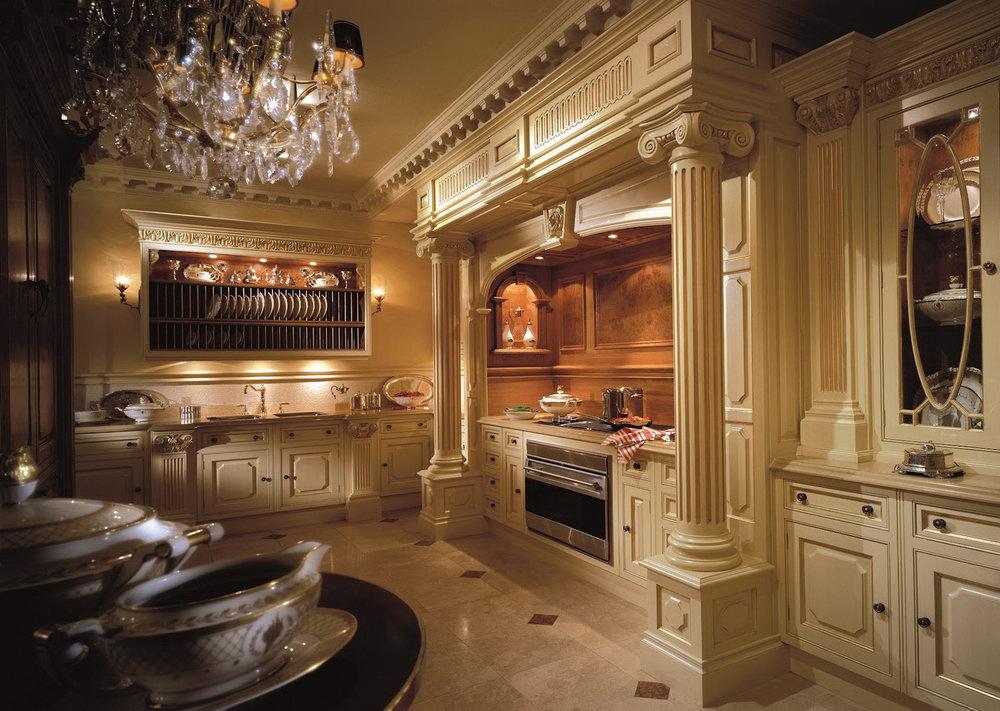 White Victorian Kitchen Cabinets