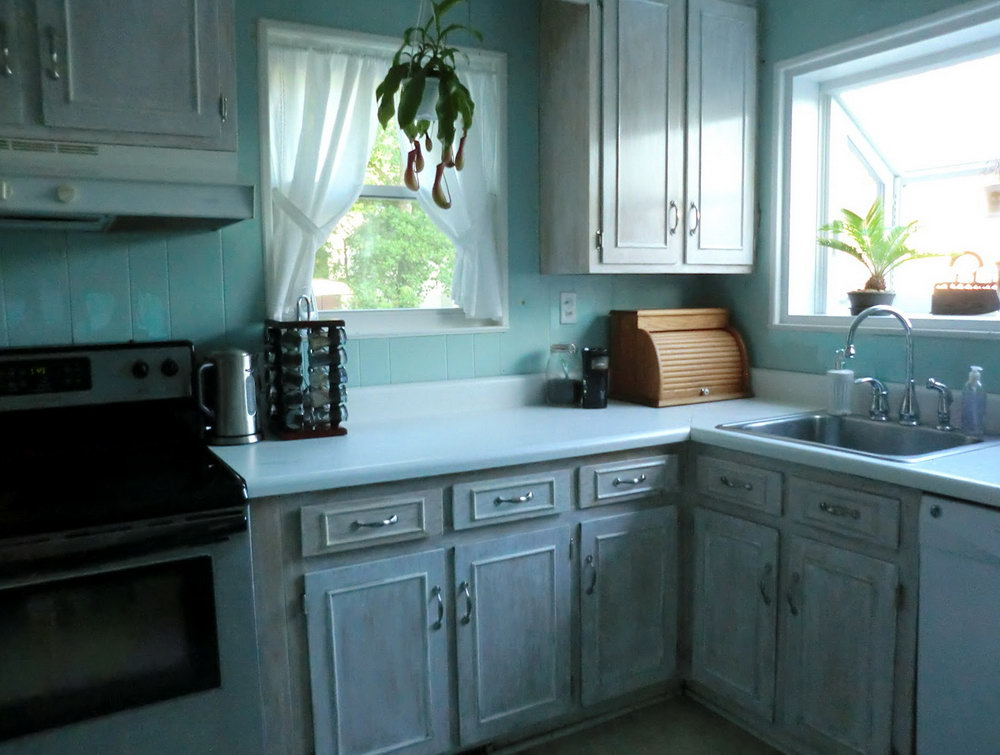 Whitewash Kitchen Cabinets Photos
