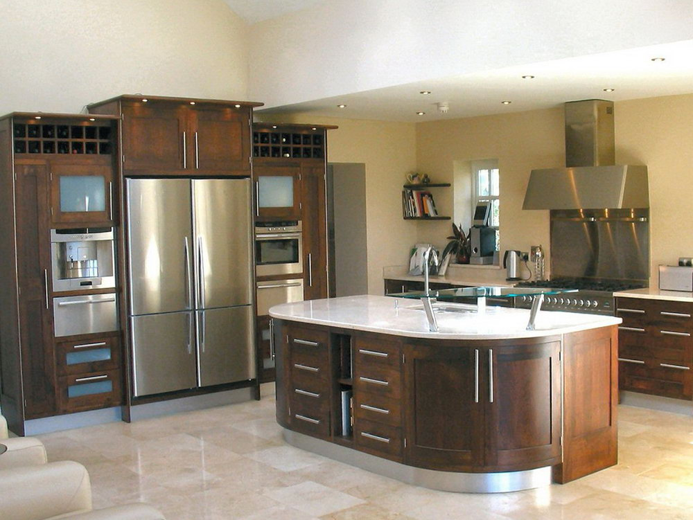 American Walnut Kitchen Cabinets