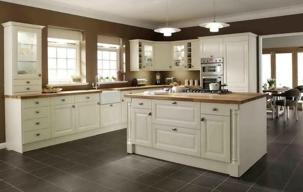 Antique White Modern Kitchen Cabinets