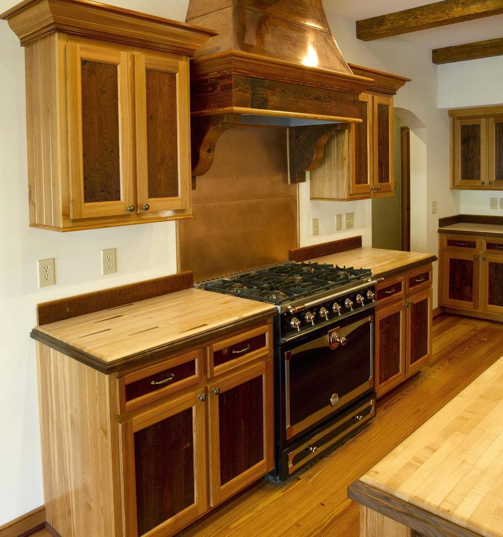 Barn Wood Style Kitchen Cabinets