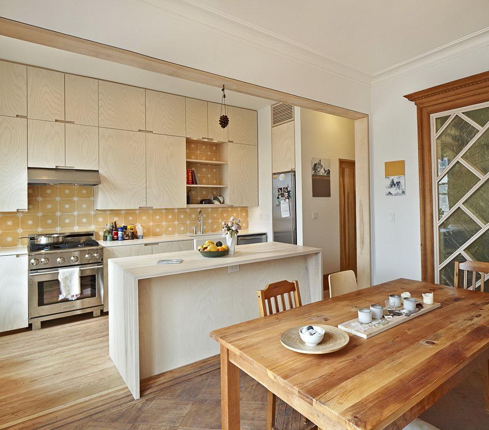 Blonde Wood Kitchen Cabinets