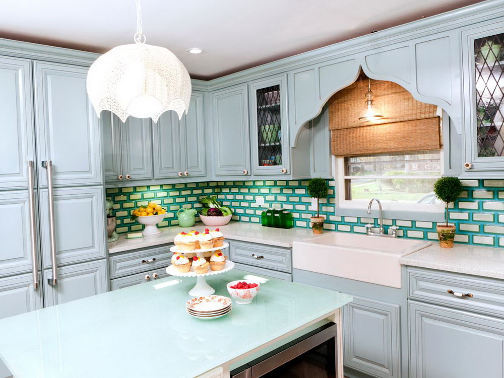 Blue Cottage Kitchen Cabinets