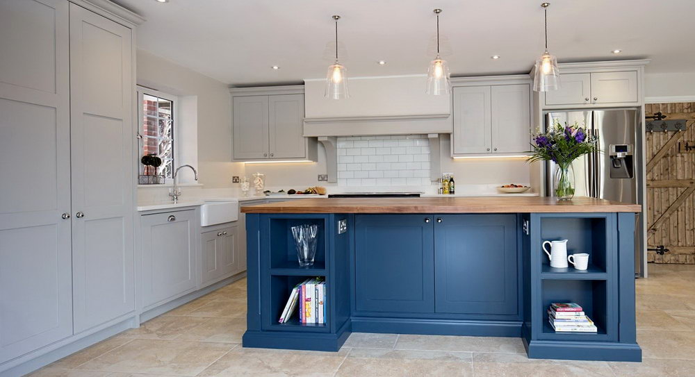 Blue Gray Kitchen Cabinets Colors