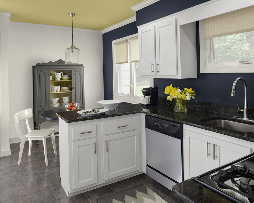 Colors For Kitchen Walls With White Cabinets