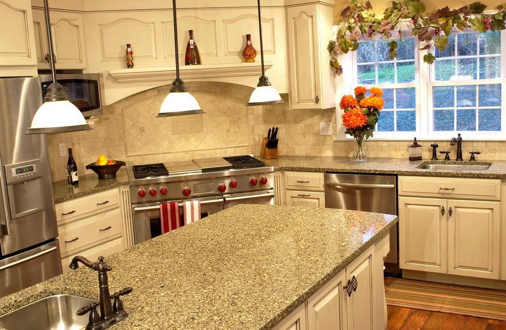 Cream Color Kitchen Cabinets With Granite Countertops