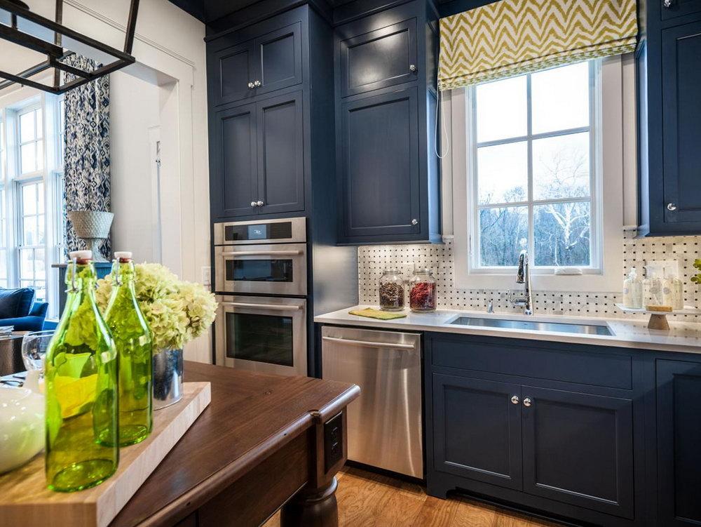 Dark Blue Kitchen Cabinets For Sale