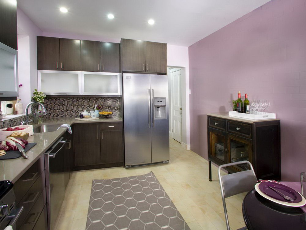 Dark Purple Kitchen Cabinets