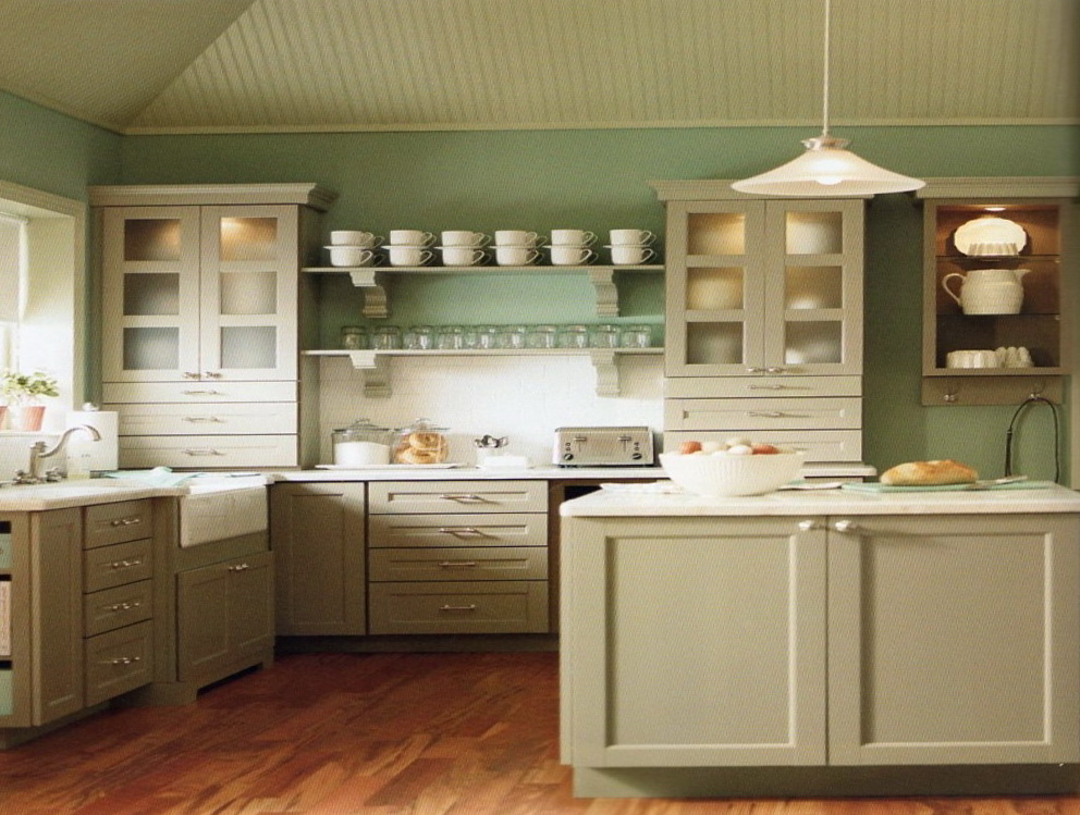 Decorating Above White Kitchen Cabinets