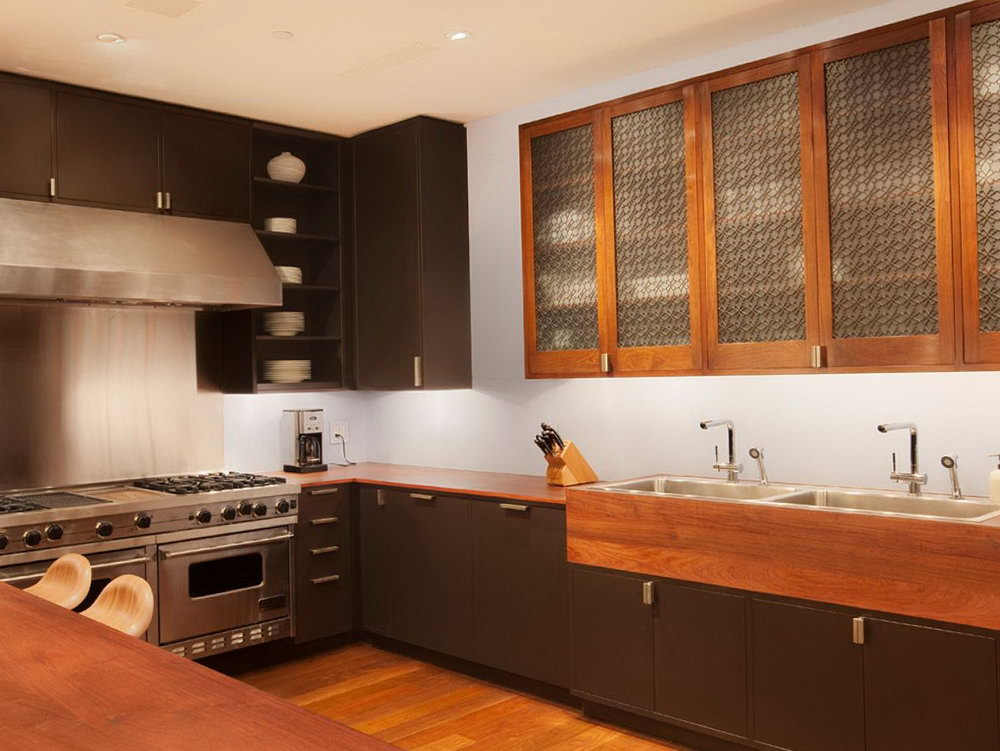 Espresso Color Kitchen Cabinets
