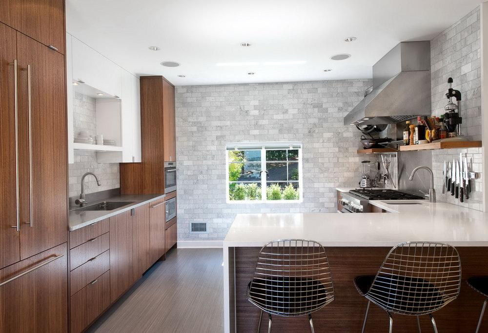 Floating Shelves Under Kitchen Cabinets
