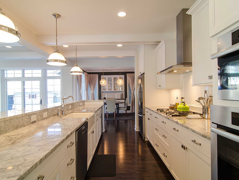 Galley Kitchen Designs White Cabinets