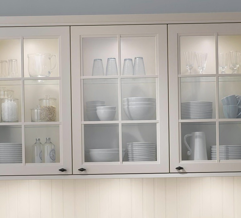 Glass Door Kitchen Wall Cabinet