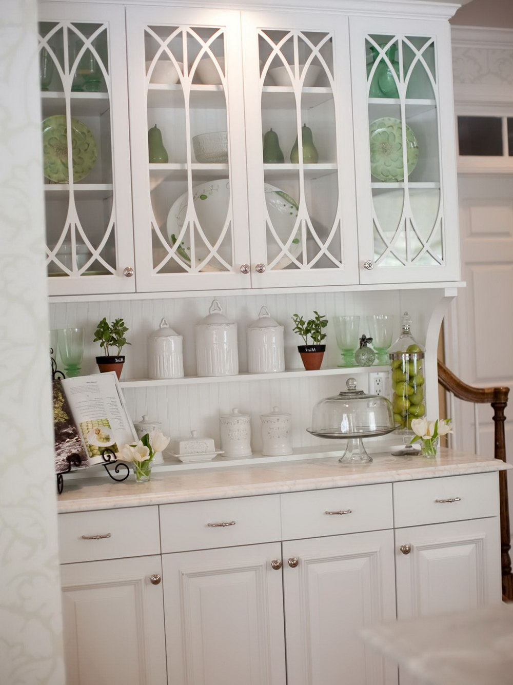 Glass Kitchen Cabinet Decor