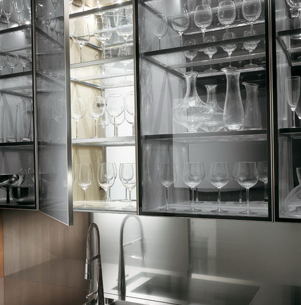 Glass Kitchen Cabinet Design