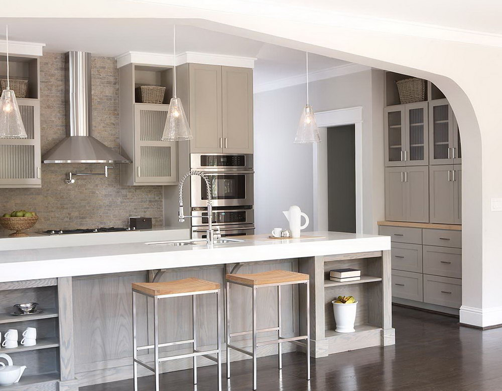 Grey Shaker Style Kitchen Cabinets