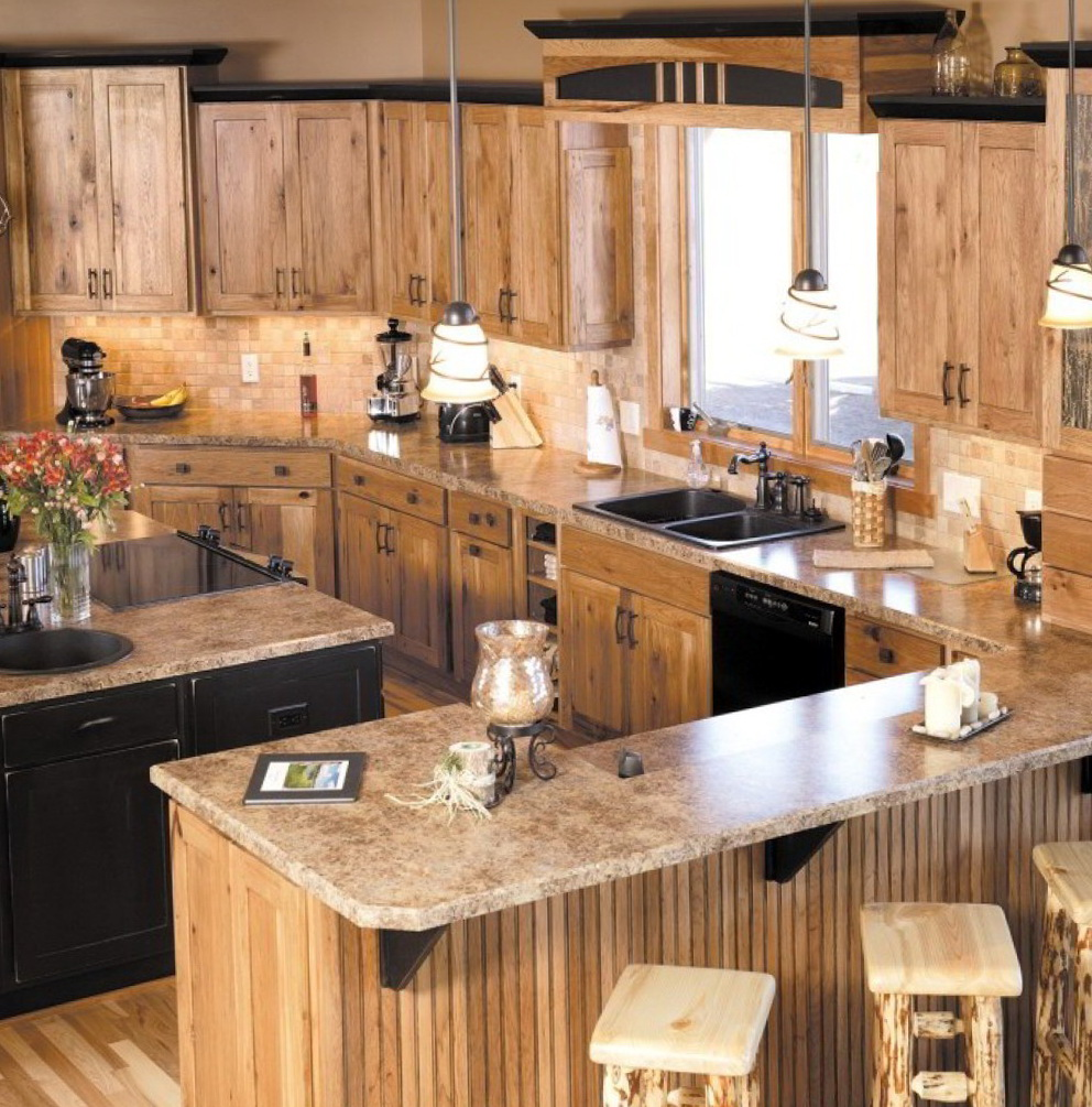 Hickory Shaker Kitchen Cabinets