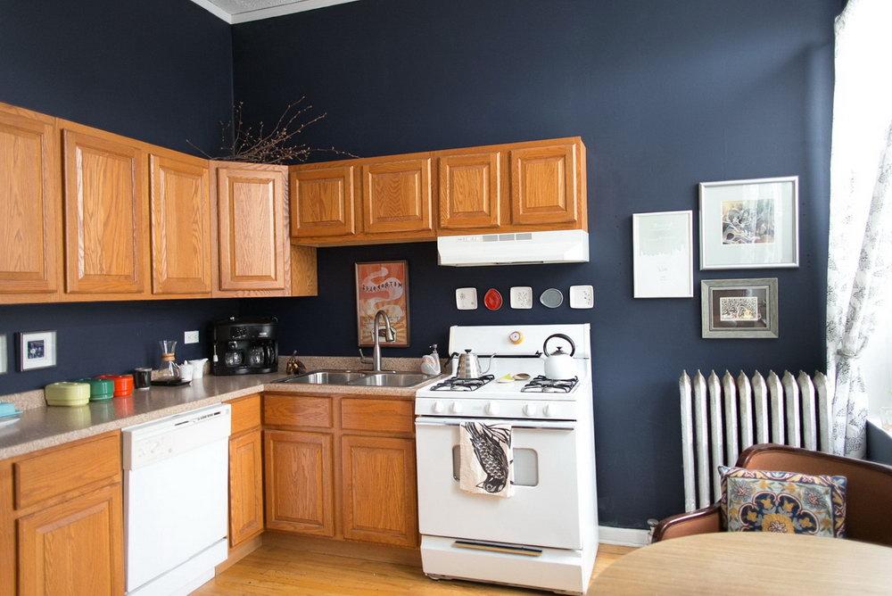 Honey Oak Kitchen Cabinets Wall Paint