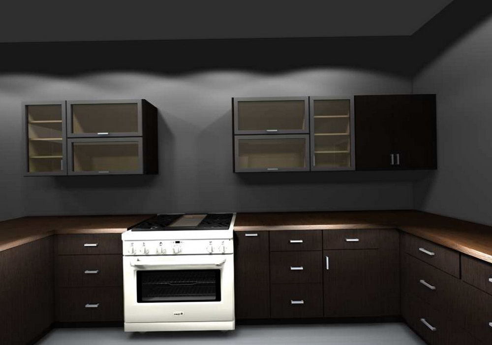 Horizontal Kitchen Wall Cabinets