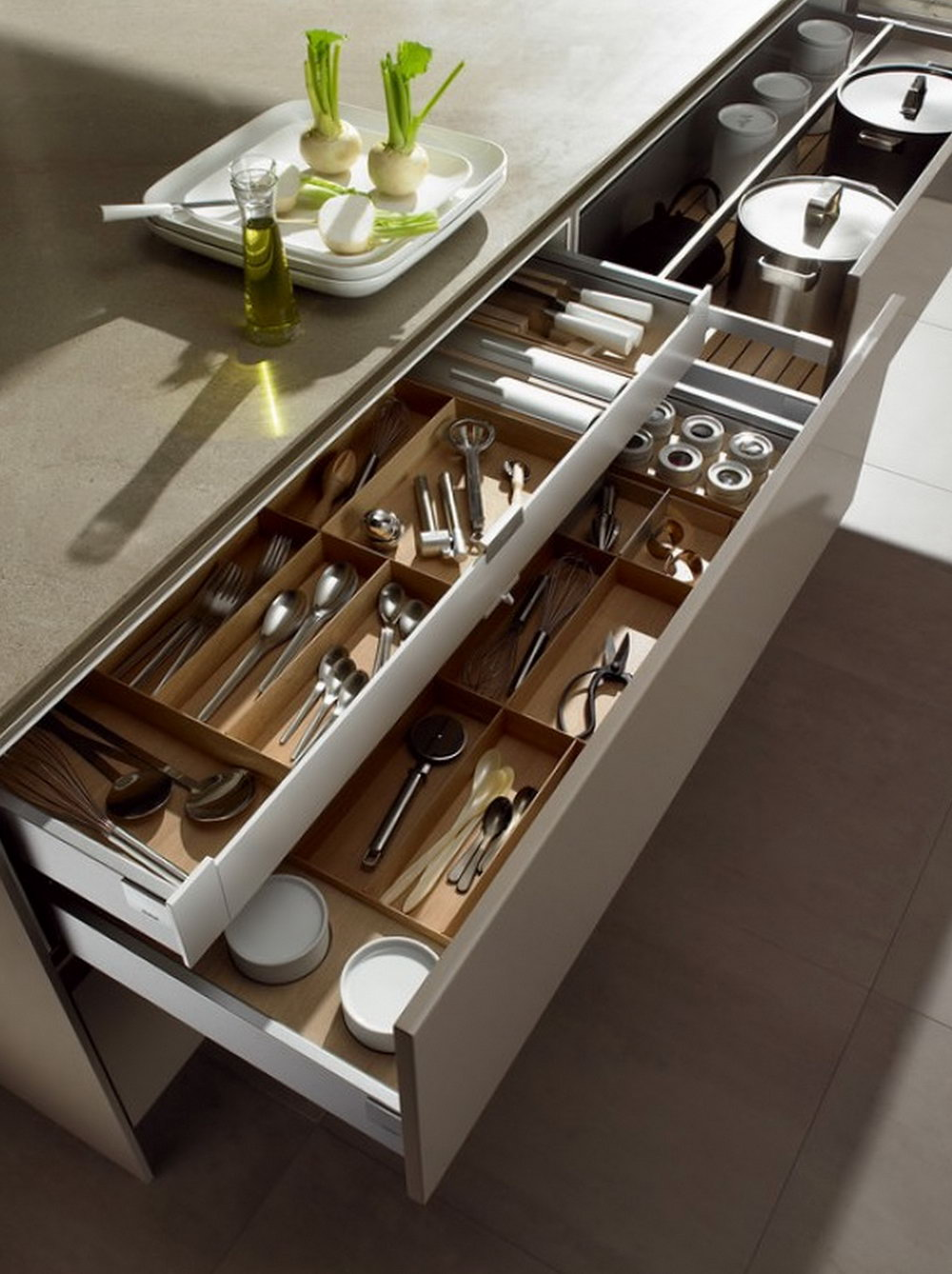 How To Arrange Kitchen Cabinets And Drawers