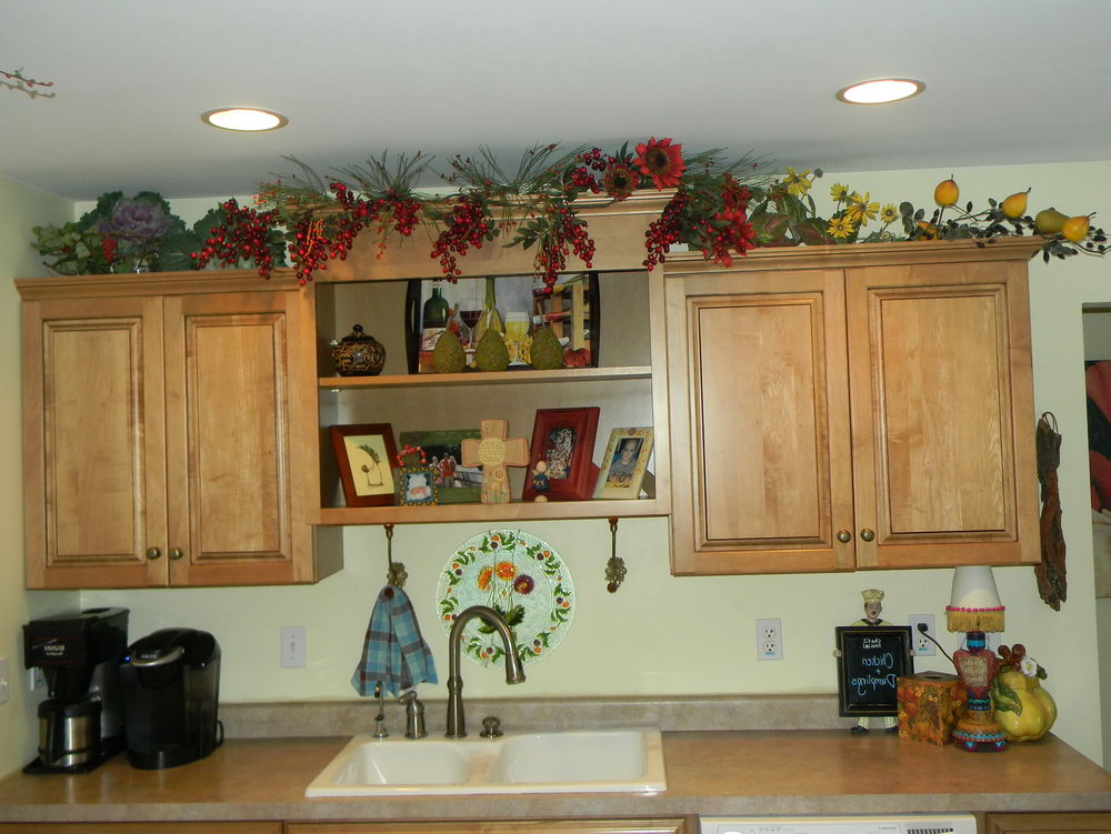 How To Decorate Over Kitchen Cabinets